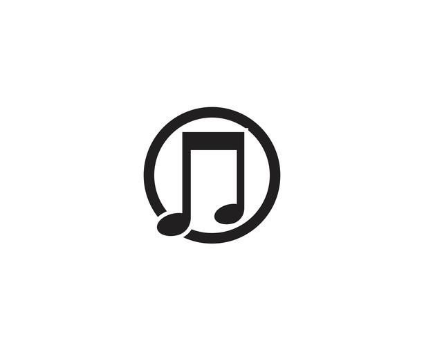 Progettazione dell'illustrazione di vettore dell'icona della nota