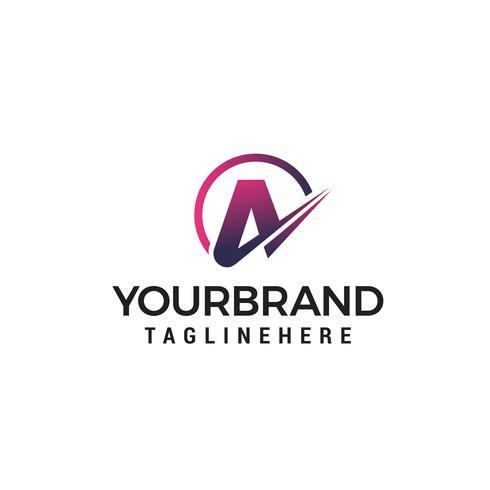 lettera A logo design concetto modello vettoriale