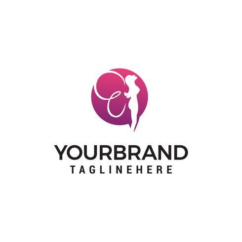 fata logo design concetto modello vettoriale