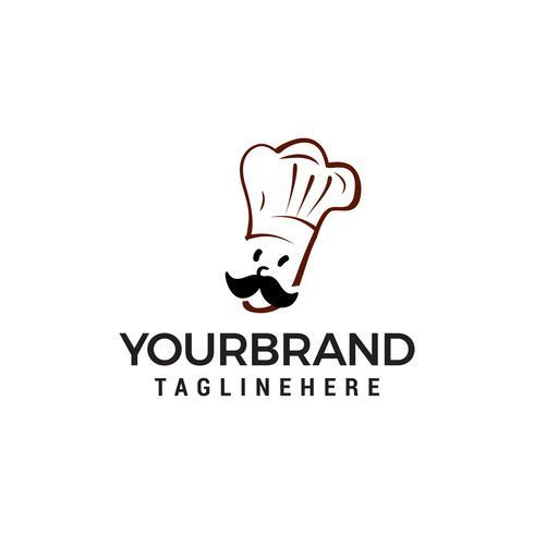 vettore del modello di concetto di progettazione di logo di chef