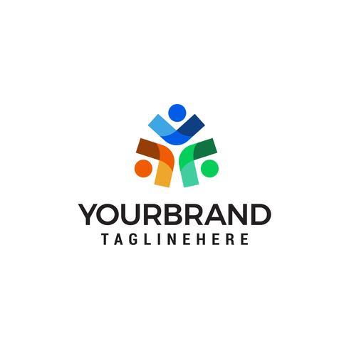 business persone logo design concetto modello vettoriale