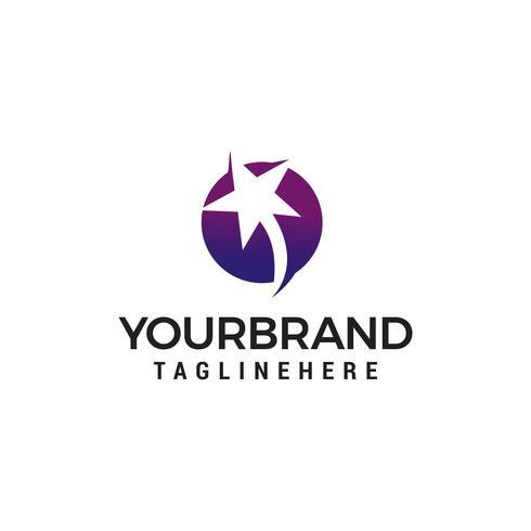 stella logo design concetto modello vettoriale