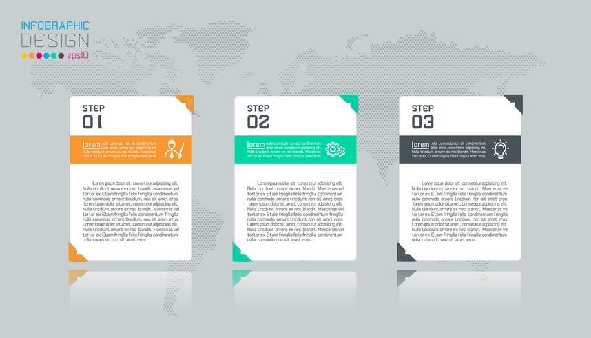 Infografica di affari con 4 etichette. vettore