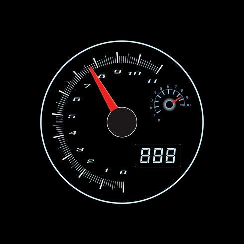 Termometro di velocità su grafica vettoriale. vettore