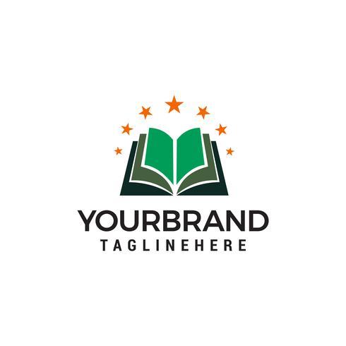 vettore del modello di concetto di design logo stella libro del libro