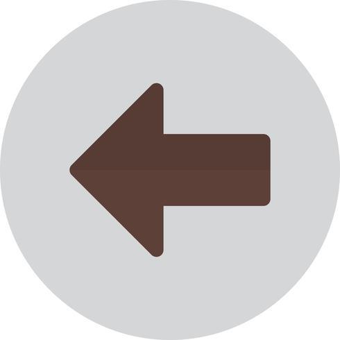 Icona della freccia sinistra di vettore