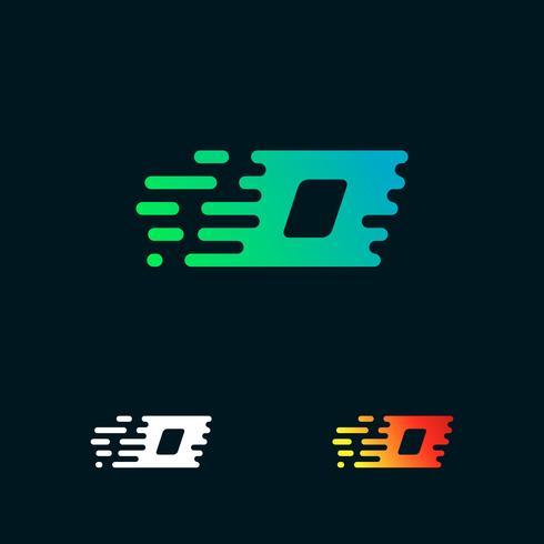 lettera O moderna velocità forme logo design vettoriale
