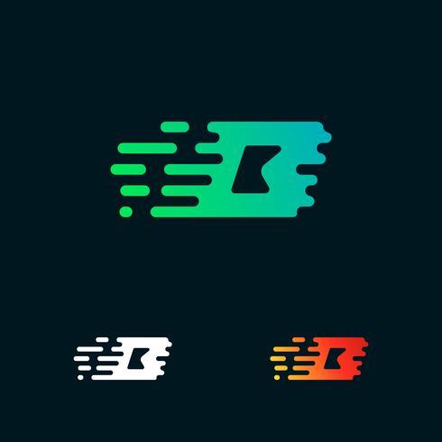 lettera B moderna velocità forme logo design vettoriale