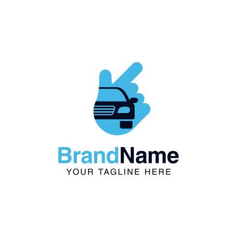 modello di servizi logo soluzione auto. logo aziendale auto design vettore