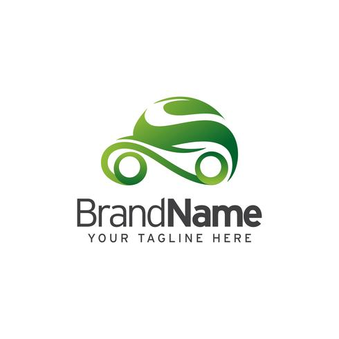Eco Car Logo Template Design vettoriale