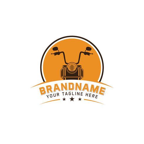 Illustrazione di vettore dell'emblema di logo del motociclo dell'annata