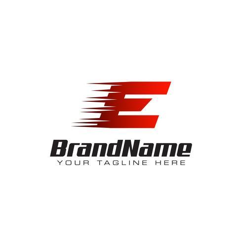 Lettera iniziale E Velocità Logo Design Template vettore