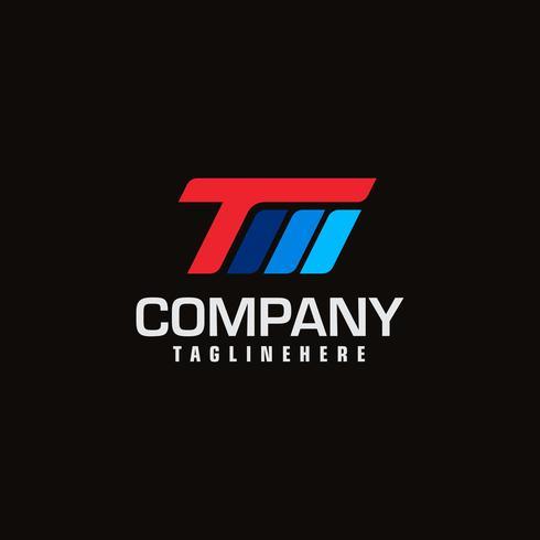 Abstract Logo Design Combinations Lettera di T e M vettore