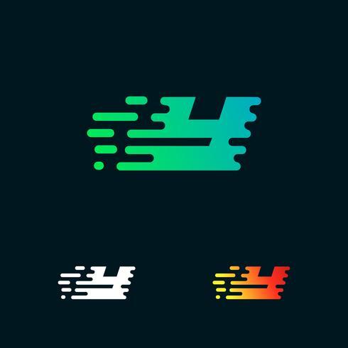 lettera Y moderna velocità forme logo design vettoriale