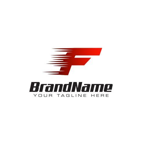 Lettera iniziale F velocità Logo Design Template vettore
