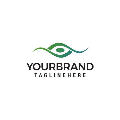 Modello di Logo Design Concept occhio creativo vettore