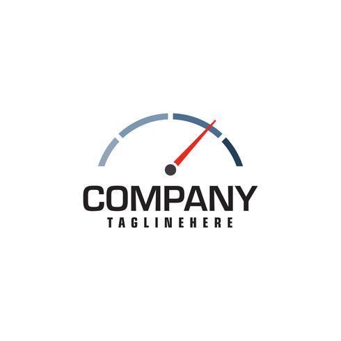 tachimetro. simbolo astratto del logo di velocità vettore