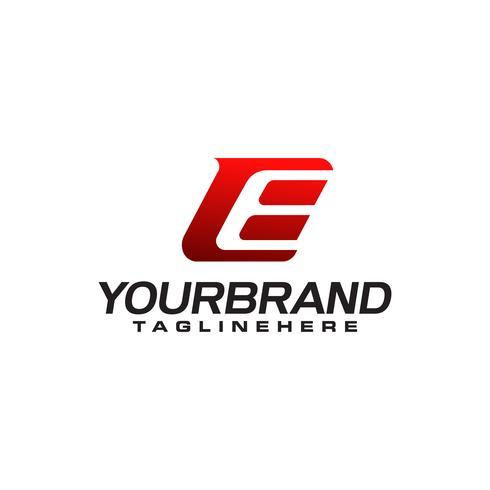 Modello di lettera E Logo vettore