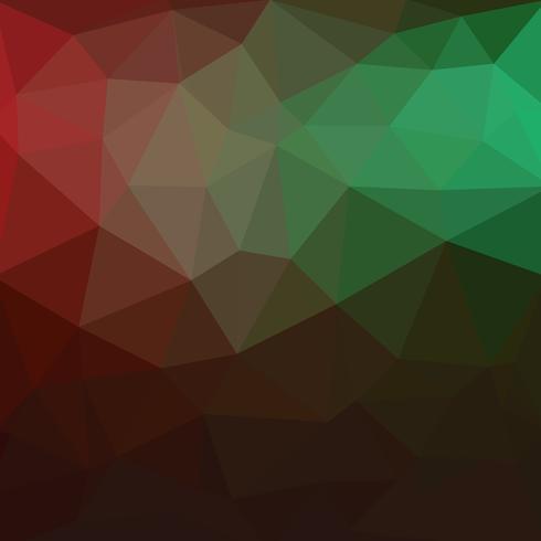 Fondo verde chiaro, rosso del mosaico del triangolo di vettore. Un'illustrazione a colori completamente nuova in uno stile vago. Il modello elegante può essere utilizzato come parte di un libro di marca. vettore