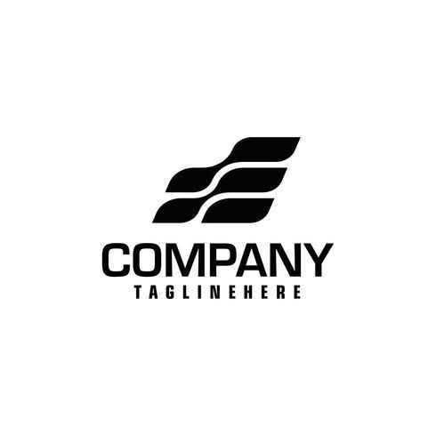Modello di progettazione di logo iniziale lettera E velocità vettore