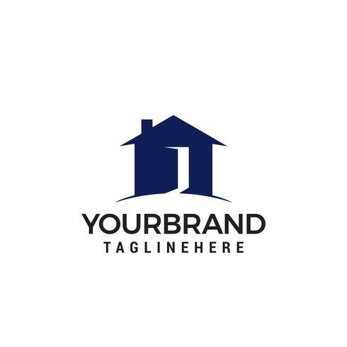logo della casa aperta vettore
