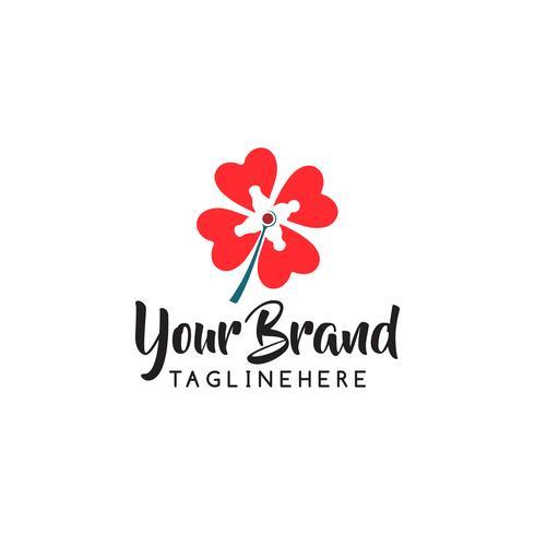 Progettazione astratta di vettore dell'icona di logo del deposito di fiore. Cosmetici, Spa, Salone di bellezza Decorazione Boutique logo vettoriale. Logo floreale Icona di nozze di fiori. Lusso primavera ed estate, emblema.
