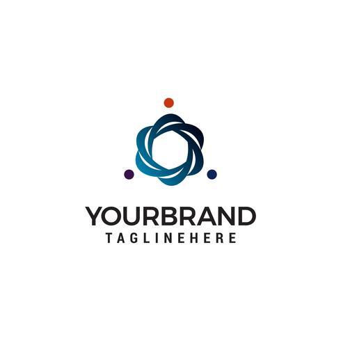 Lavoro di squadra Logo Design Template vettore