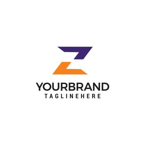 Concetto di vettore del modello di lettera Z Logo
