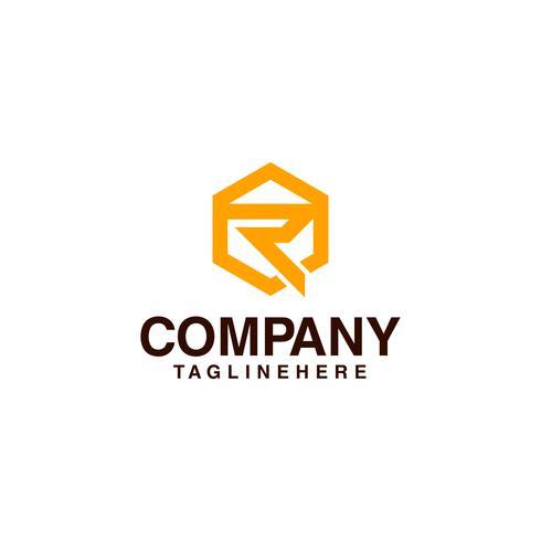 Lettera R - Logo Modello Elemento vettoriale Modello di logo