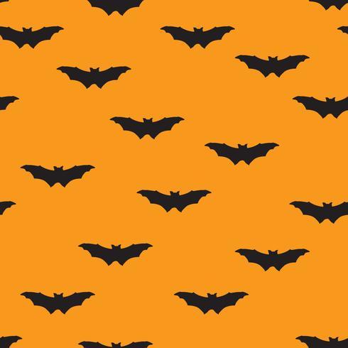 Reticolo senza giunte di Halloween. Sfondo vacanza con pipistrello volante vettore