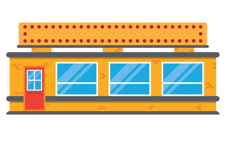negozio di alimentari locale in stile retrò vettore