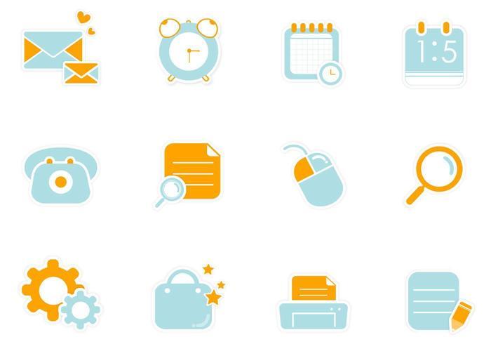 Pacchetto di elementi di vettore adesivo web