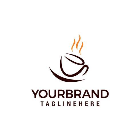 progettazione dell'illustrazione di vettore del modello di Logo della tazza di caffè