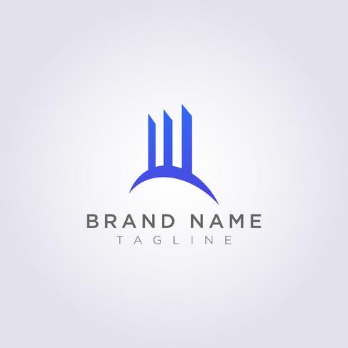 Logo City Icon Design Edifici con grattacieli, torri, architettura vettore
