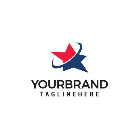 Modello di progettazione logo stella vettore