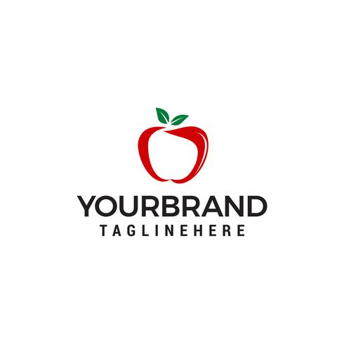 Vettore del modello di concetto di progettazione di logo della frutta di Apple