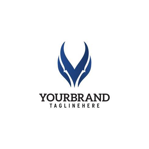 Modello astratto semplice Logo Concept Design testa di lupo vettore