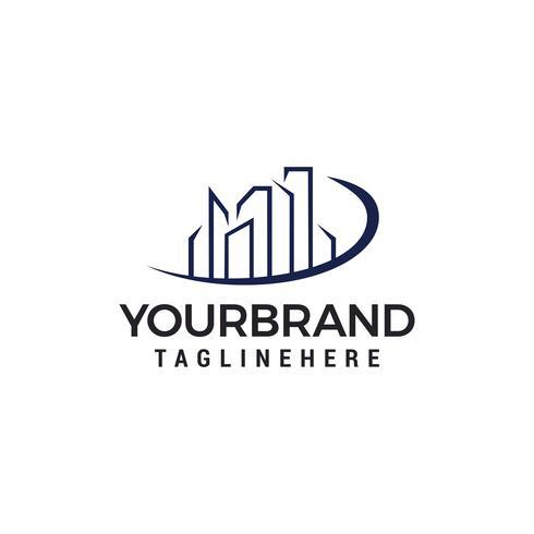 Logo immobiliare. Modello di logo vettoriale