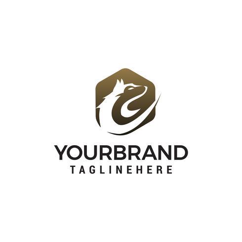 lupo logo logo design concetto modello vettoriale