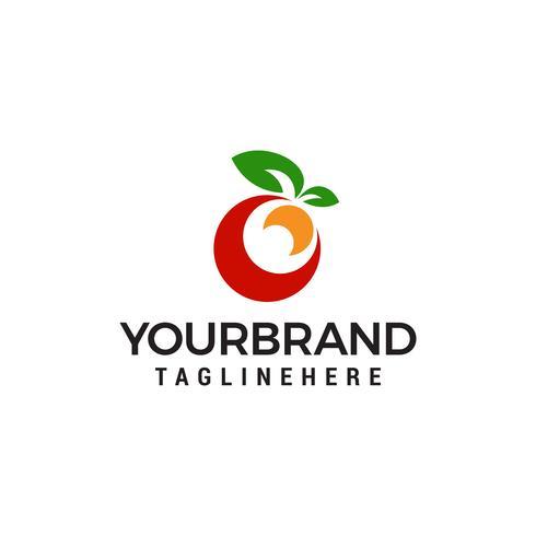 vettore del modello di concetto di progettazione di logo di frutta