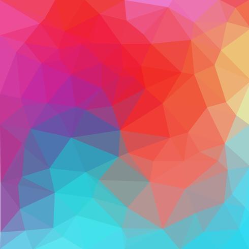 apolymesh Multicolor blu, rosso poligonale illustrazione, che consistono in triangoli. Sfondo geometrico in stile origami con sfumatura. Design triangolare per il tuo business. vettore