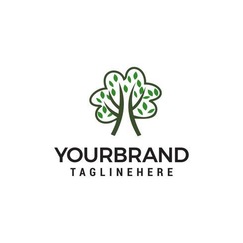 Logo disegnato a mano dell'albero, logo di scuola di bambini, apprendimento e modello di disegni di educazione vettore