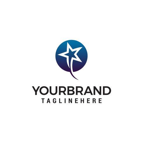più veloce stelle logo design concetto modello vettoriale
