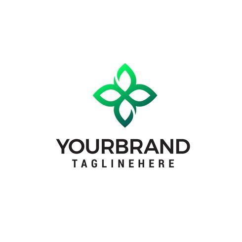 lascia il logo e il simbolo della natura verde vettore