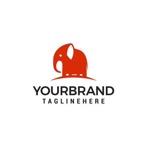 Elefante carino Logo Design Template vettore