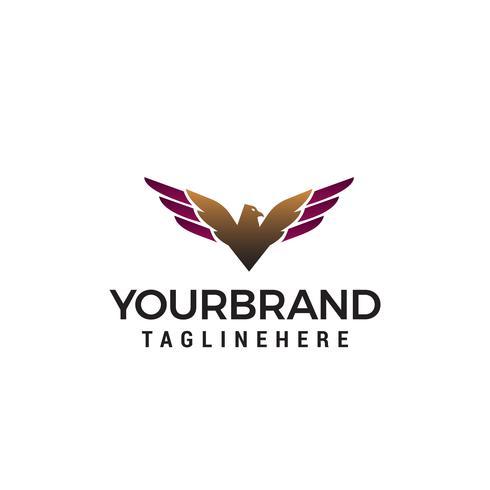 vettore del modello di concetto di design logo aquila di lusso