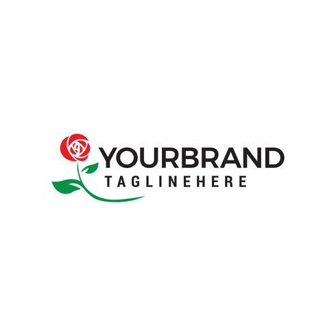 vettore del modello di concetto di progettazione di logo cosmetico del fiore