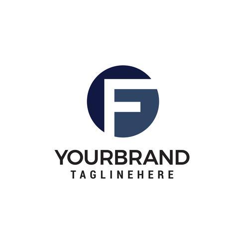 lettera f logo design concetto modello vettoriale