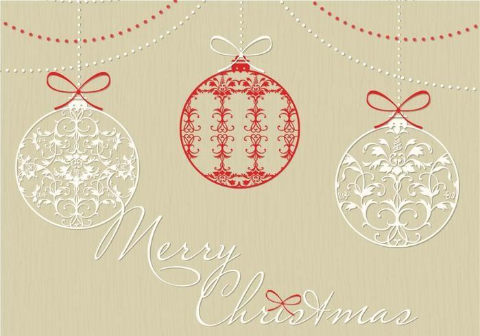 Pacchetto decorativo del fondo di vettore dell'ornamento di Natale