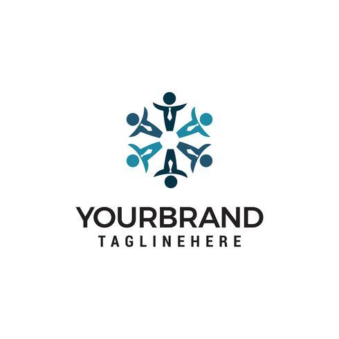 vettore del modello di concetto di progettazione di logo della comunità della gente di affari